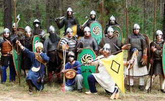 medieval warriors in Esk