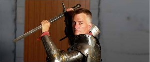 Medievalist and champion sword fighter Jeremy Oneail