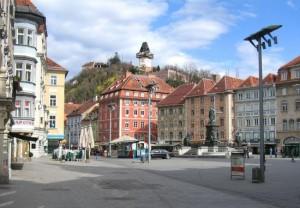 main square in graz