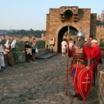 Medieval Bulgarian Warriors Entertain Tourists in Veliko Tarnovo
