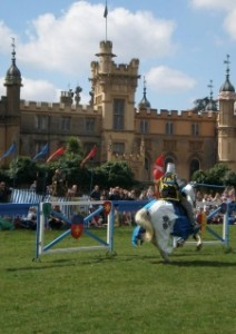 Medieval knights ride again at Knebworth House