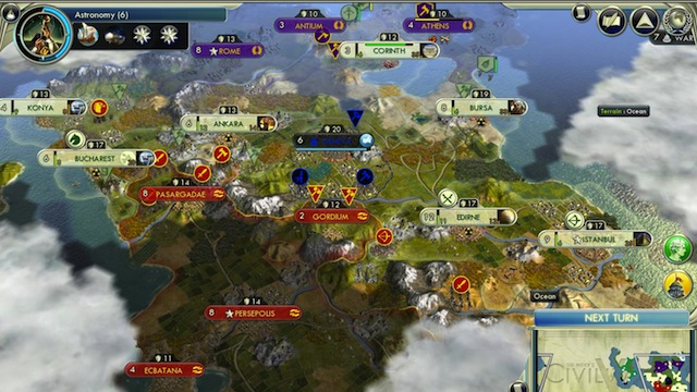 The city-states in your pocket: first look at Civilization V