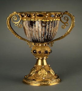 The golden chalice of the great Abbot Suger of Saint-Denis