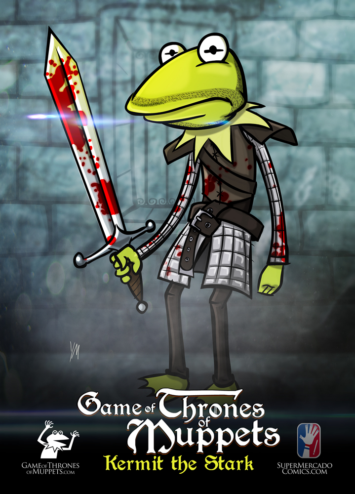 Game of Thrones of Muppets: You Wink or Your Die | Illustrated by Yehudi Mercado