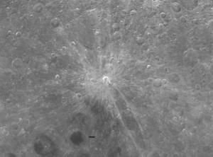 Moon crater Giordano Bruno