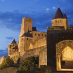 La Cite, Carcassonne, Porte d&#039;Aude, Languedoc, France