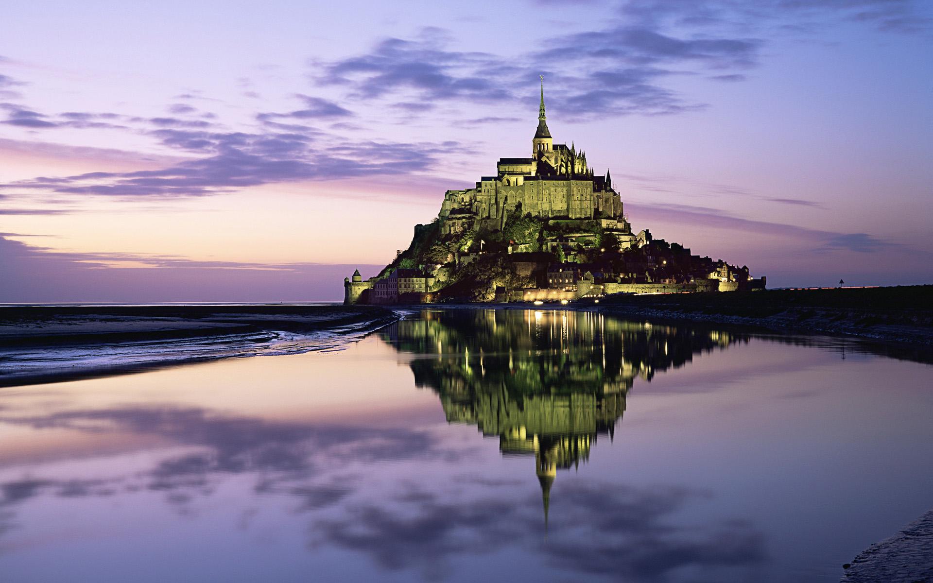 Real Fairytale Landscapes Le Mont-Saint-Michel, ...