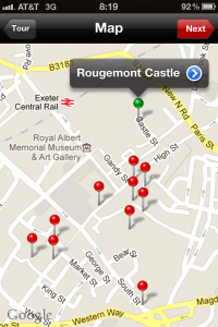 Rama Travel Map Medieval Exeter