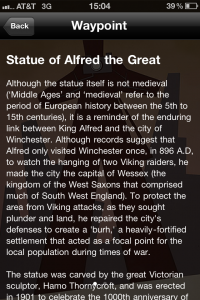 Medieval Winchester -Statue of Alfred the Great