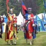 Royal jousting at Blenheim Palace
