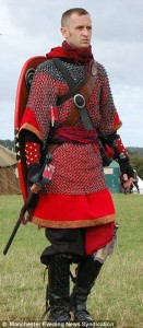 Medieval role-play warrior