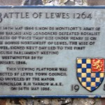 Battle of Lewes plaque