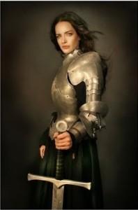 woman medieval longsword