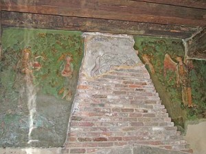 The Byward Tower wall painting at the Tower of London