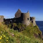 Ruins of Dunluce Castle, Antrim, Northern Ireland, UK