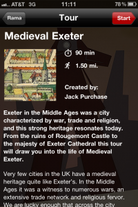 Rama Travel App Medieval Exeter