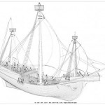Newport Medieval Ship drawing