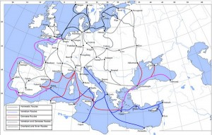 Late Medieval Trade Routes