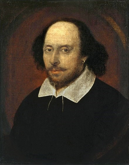 """The Chandos portrait"" of William Shakespeare, John Taylor, 1610"